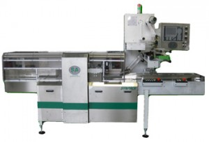 High Speed Horizontal Flow Pack Wrapping Machine Rice Cake on edge
