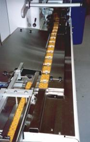 Sistema de porcionamento a 90° para uma envolvedora horizontal